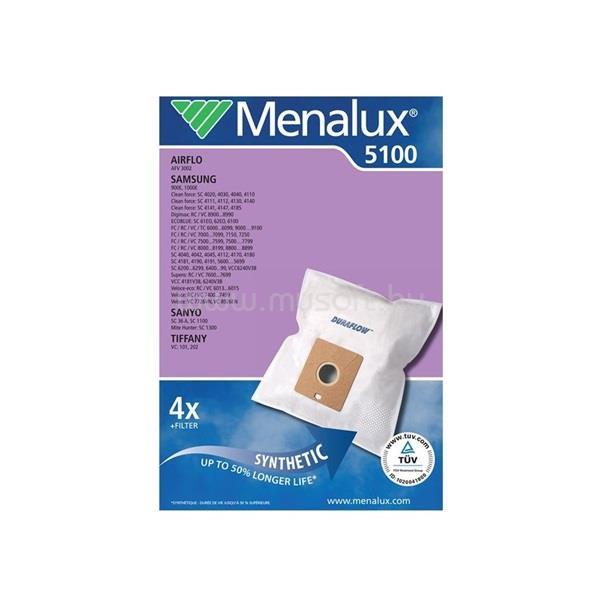 MENALUX 5100 4 db szintetikus porzsák + 1 motorszűrő