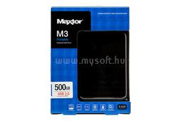 "Maxtor 2.5"" HDD USB 3.0 500GB 5400rpm 16MB Portable Fekete, HX-M500TCB"