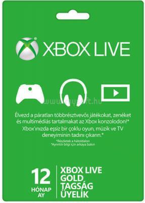 MICROSOFT Xbox Live 12 hónapos Gold Card előfizetés