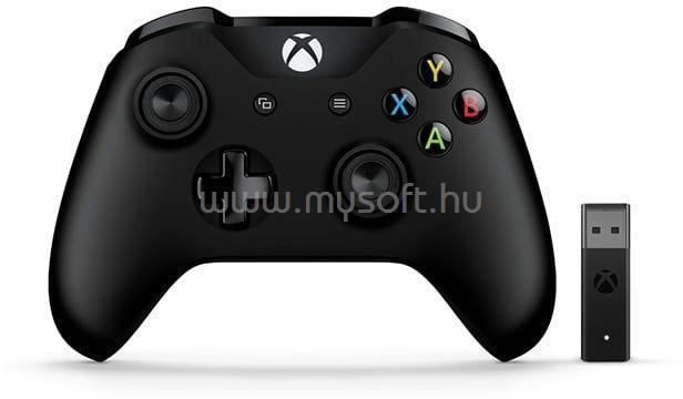 MICROSOFT játékvezérlő Xbox One vezeték nélküli kontroller + vezeték nélküli adapter Windowshoz
