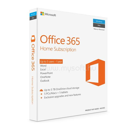 MICROSOFT Office 365 Home HUN (1 év)