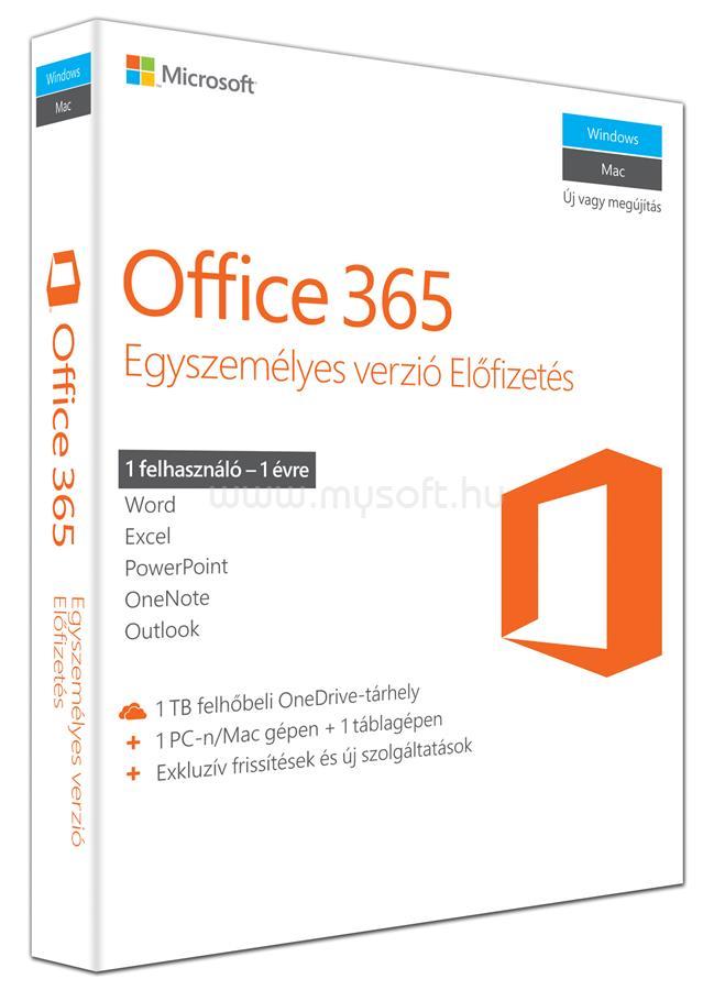 MICROSOFT Office 365 Personal HUN (1 év)
