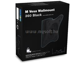 "Multibrackets M VESA Wallmount 360 Black 15""-40"", 7350022733497"