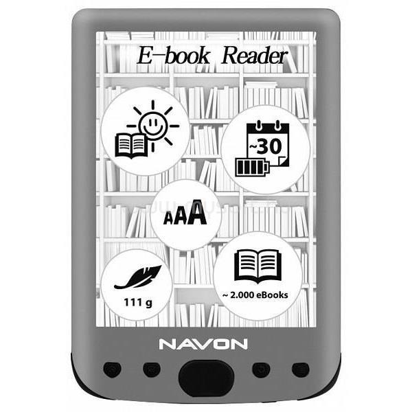 "NAVON BigBook Blacklight 6"" 8GB E-book olvasó"
