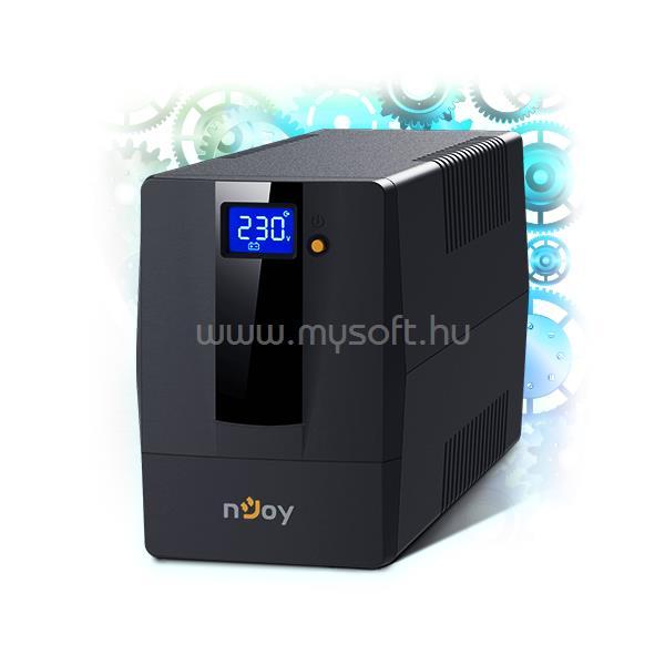 NJOY UPS 1000VA Schuko Horus Plus 1000 Vonali-interaktív
