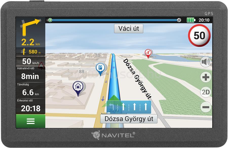 """NAVITEL E200 5"""" GPS autós navigáció"""