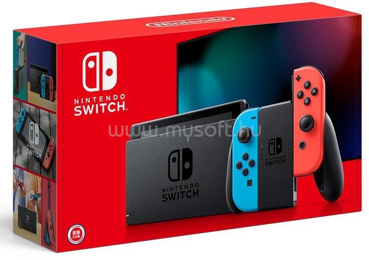 NINTENDO Switch Játékkonzol, Neon piros és kék joy-connal
