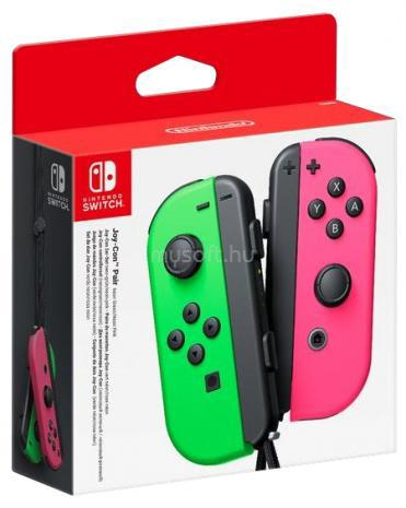 NINTENDO Switch Joy-Con kontrollercsomag, neon zöld - neon pink
