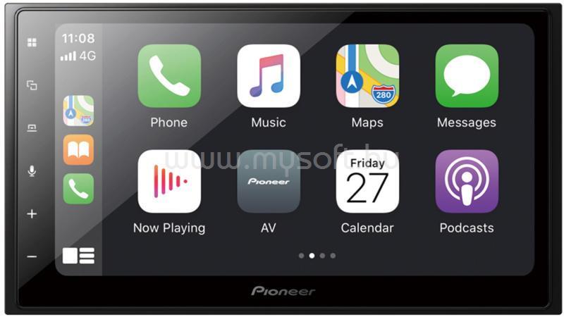 "PIONEER 6,8"" Bluetooth/USB/CarPlay autóhifi fejegység"