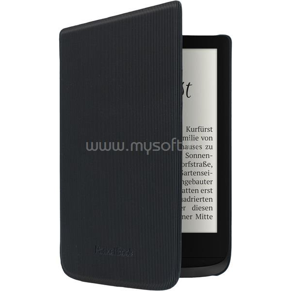 "POCKETBOOK e-book tok -  Shell 6"" (Touch HD 3, Touch Lux 4, Basic Lux 2) Fekete csíkos"