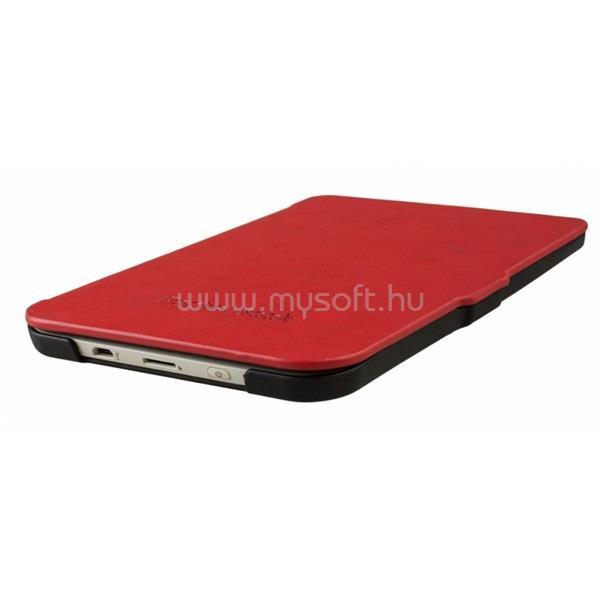 POCKETBOOK e-book tok - gyári kivitel (Basic 3 614-2, Basic Lux 615, Basic Touch 2 625, Touch Lux 3 626)  Fekete/piros