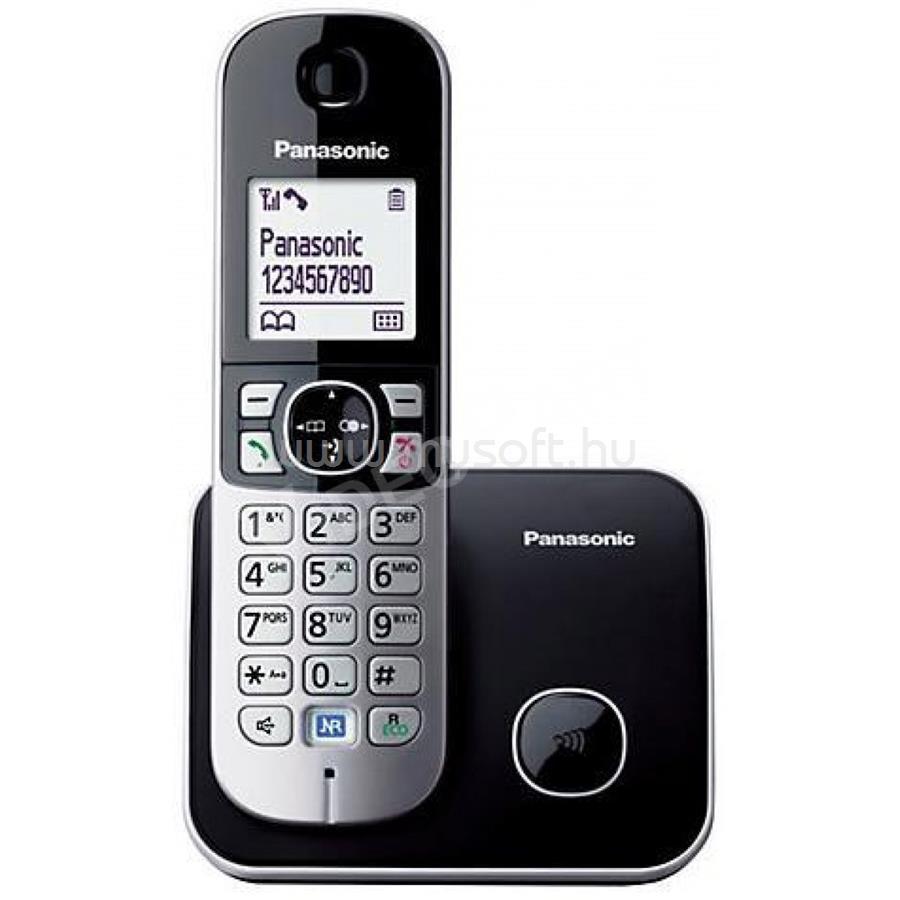 PANASONIC KX-TG6811PDB fehér háttérvil. kihangosítható hívóazonosítós fekete dect telefon KX-TG6811PDB large
