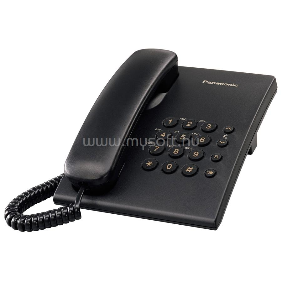 PANASONIC fekete vezetékes telefon