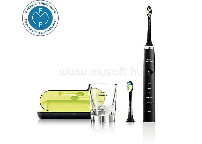 PHILIPS Sonicare DiamondClean HX9352/04 fekete szónikus elektromos fogkefe üvegpohár töltővel