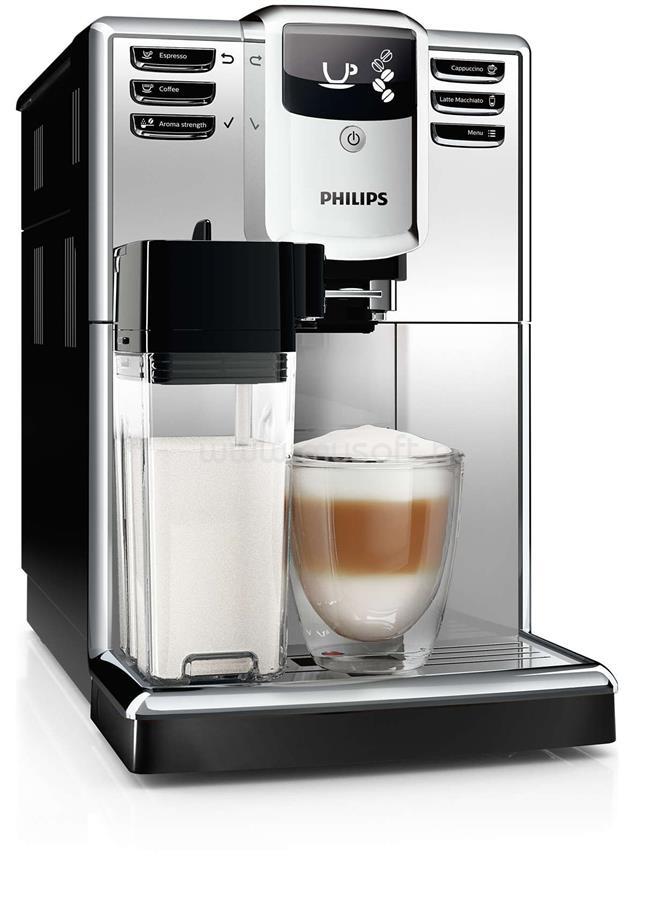 PHILIPS Series 5000 EP5363/10 automata kávégép integrált tejtartállyal ezüst