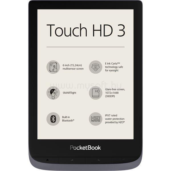 POCKETBOOK Touch HD 3 (metálszürke)