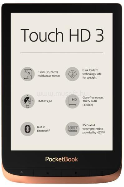 POCKETBOOK Touch HD 3 (sötétbarna)
