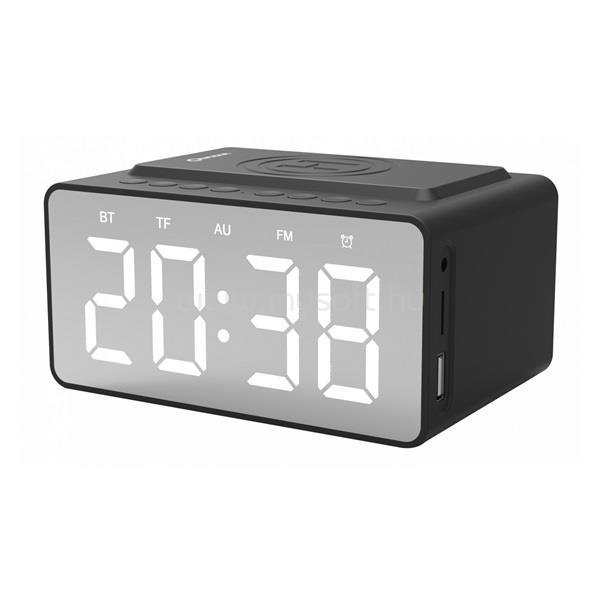 QUAZAR QZR-WR09BL fekete óra és vezeték nélküli Qi töltőállomás
