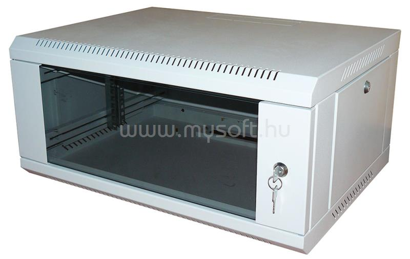 RITTAL NT fali rack 12U 600x450, üvegajtóval