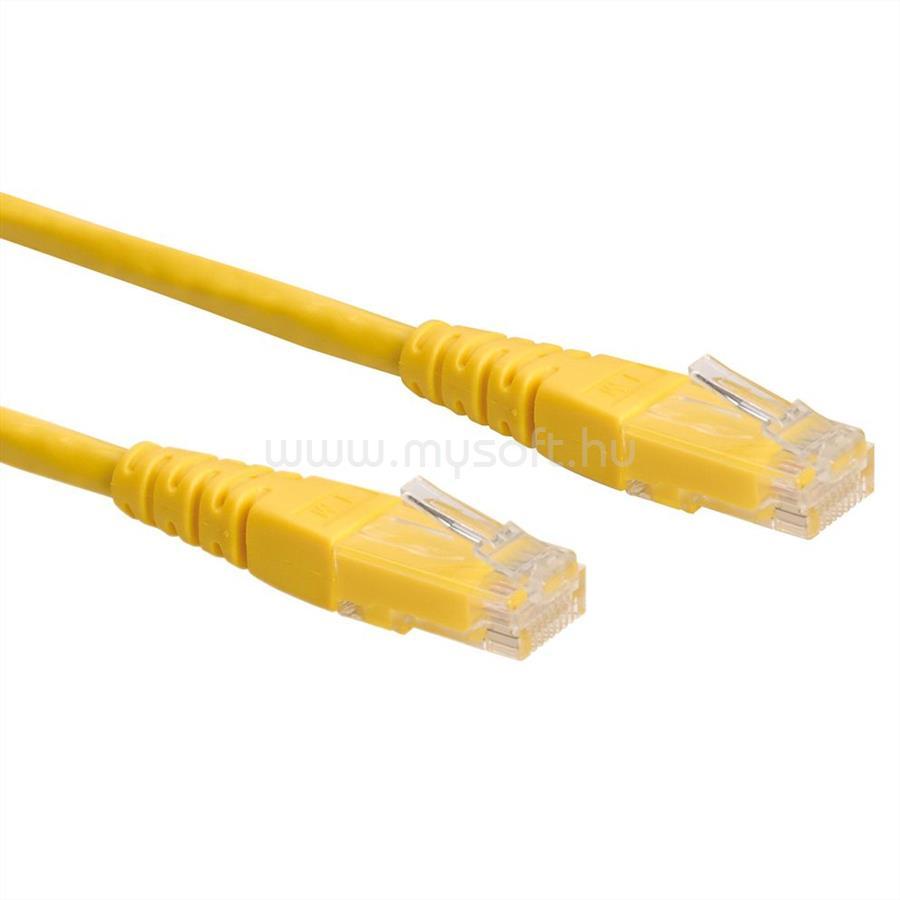 ROLINE Patch kábel UTP CAT6 0.5m (sárga)