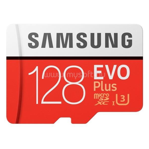 SAMSUNG 128GB SD micro EVO Plus (SDXC Class10) (MB-MC128HA/EU) memória kártya adapterrel