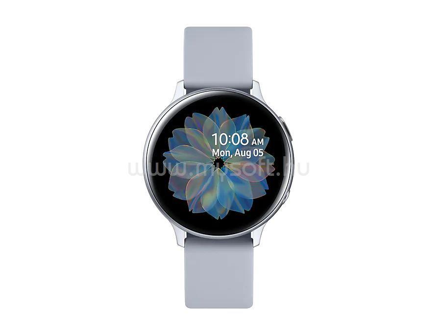 SAMSUNG Galaxy Watch Active2 Okosóra, 44 mm. Alumínium, Ezüst szíj