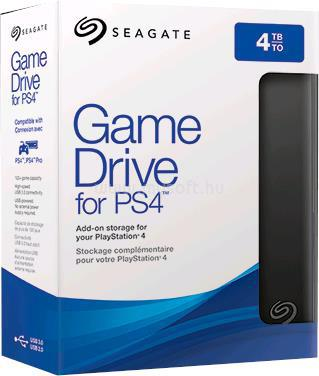 SEAGATE Game Drive for PS4 4TB - Fekete