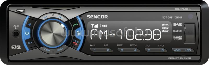 SENCOR Autórádió DAB+/AM/FM tunerrel