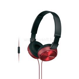 SONY MDRZX310APR Piros mikrofonos fejhallgató 2f4b8f734e