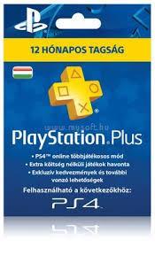 SONY PlayStation 4 PlayStation Plus 365 napos feltöltőkártya