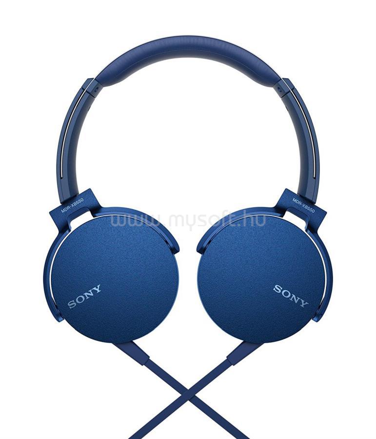 SONY MDRXB550APL.CE7 extra bass kék fejhallgató