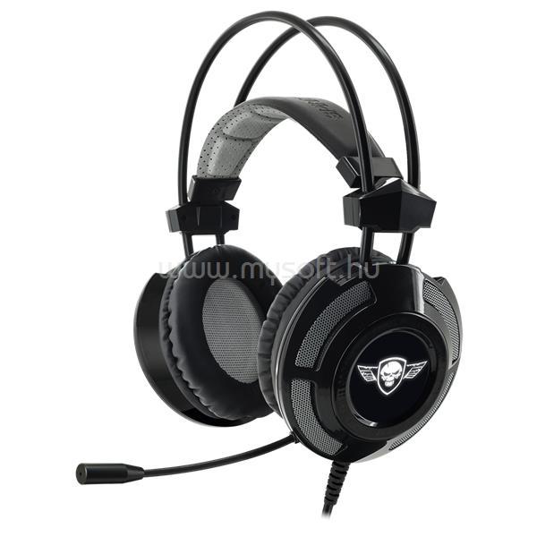 SPIRIT OF GAMER Fejhallgató - ELITE-H70 Black (7.1, mikrofon, USB, hangerőszabályzó, nagy-párnás, 2.4m kábel, fekete)