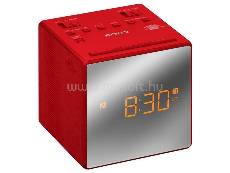 SONY ICFC1TR.CED piros rádiós ébresztőóra