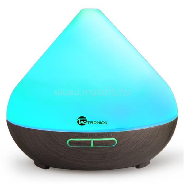 TAOTRONICS TT-AD002 sötétbarna ultrahangos illóolaj párásító LED fénnyel