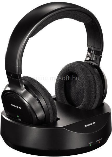 THOMSON WHP3001B vezeték nélküli fekete fejhallgató