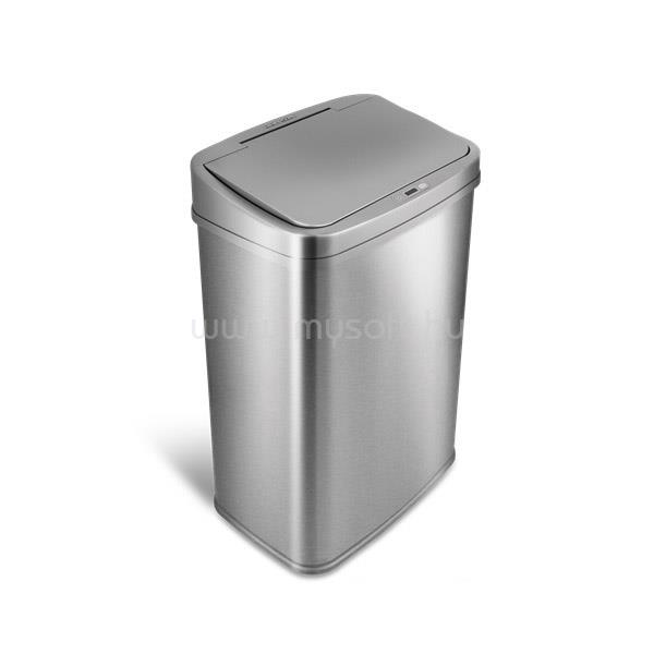 TOO Rozsdamentes acél szenzoros szemetes - szürke fedővel (50 literes)