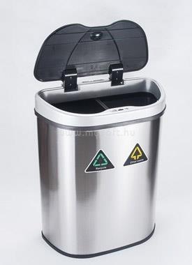 TOO Rozsdamentes acél szenzoros szemetes (70 literes)