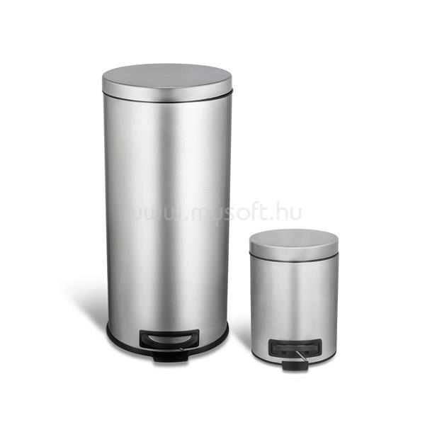 TOO Rozsdamentes acél pedálos szemetes szett (30 és 5 literes)