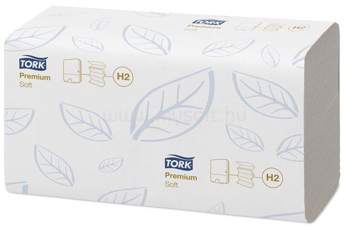 TORK H2 rendszer, Premium, XpressR Soft Multifold kéztörlő, Interfold hajtás, 2 rétegű, fehér