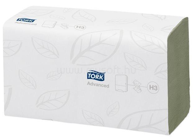 TORK H3 rendszer, Advanced Singlefold kéztörlő, Z/C hajtás, 2 rétegű, zöld