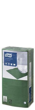 """TORK Szalvéta, 1/4 hajtogatott, 2 rétegű, 23,8x24 cm, Advanced, """"Cocktail"""", sötétzöld"""