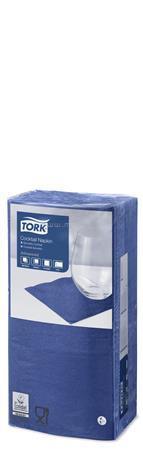"""TORK Szalvéta, 1/4 hajtogatott, 2 rétegű, 23,8x24 cm, Advanced, """"Koktélszalvéta"""", sötétkék"""