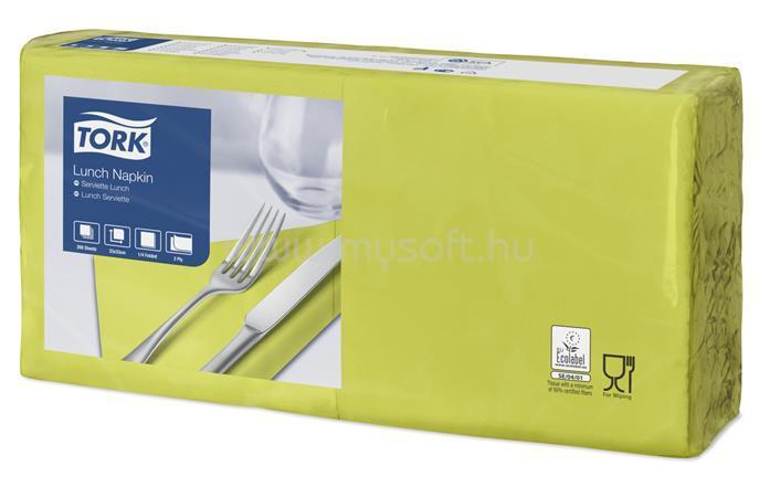 """TORK Szalvéta, 1/4 hajtogatott, 2 rétegű, 32,6x33 cm, Advanced, """"Lunch"""", lime"""