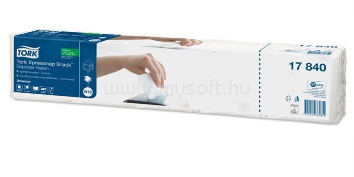 TORK N10 rendszer, Universal Xpressnap Snack szalvéta, adagolós, 1 rétegű, 21,3x21,6 cm, fehér (1125 db)