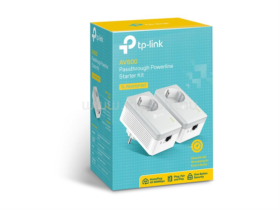 TP-LINK AV600 Konnektoraljzattal ellátott áramköri jeltovábbító készlet TL-PA4010P-KIT large