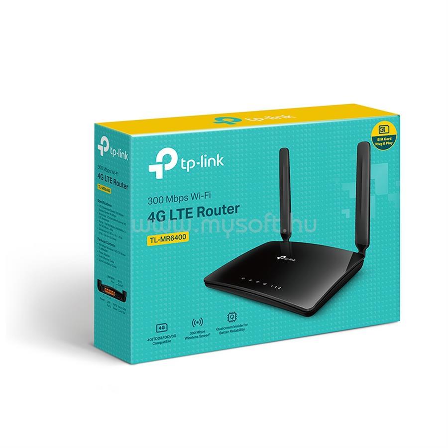 TP-LINK 300 Mbps vezeték nélküli N-es 4G LTE Router (verzió: V5.0) TL-MR6400_V5 large