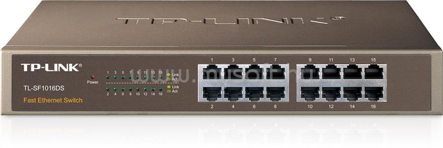 TP-LINK 16 portos 10/100 Mb/s Asztali/Rackbe szerelhető Switch