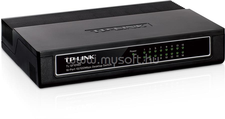TP-LINK 16 portos 10/100 Mb/s Asztali Switch