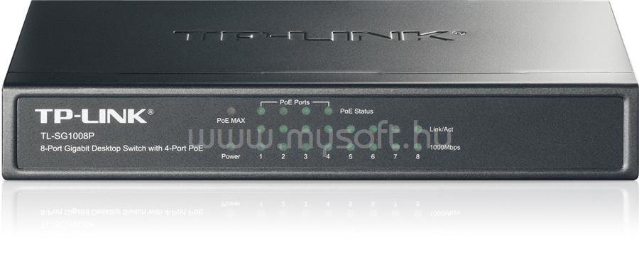 TP-LINK 8 portos Gigabites Asztali Switch 4 PoE porttal