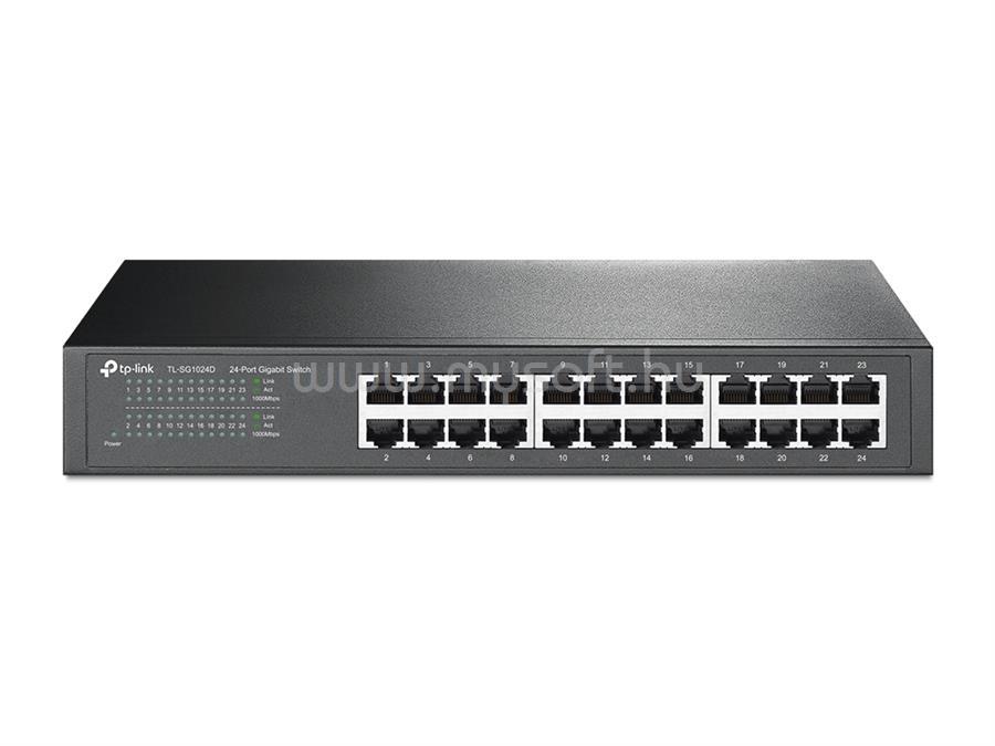 TP-LINK 24 portos Gigabites Asztali/Rackbe szerelhető Switch